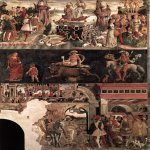 Francesco del Cossa (c. 1430  c. 1477)  Allegory of April: Triumph of Venus  Fresco, 1476-1484  500 x 320 cm  Palazzo Schifanoia, Ferrara, Italy